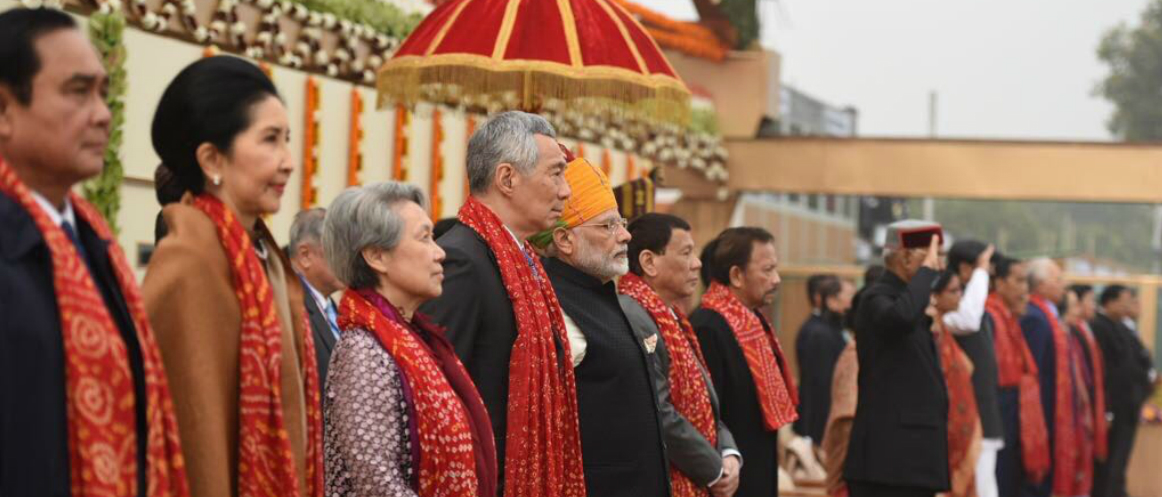 ASEAN leaders with PM Narendra Modi at the historic 69th Republic Day, New Delhi