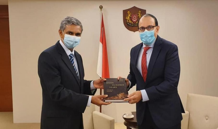 High Commissioner Periasamy Kumaran's meeting with Minister for Communication and Information and Minister in Charge of Trade Relations Mr. S Iswaran on 09 October 2020.