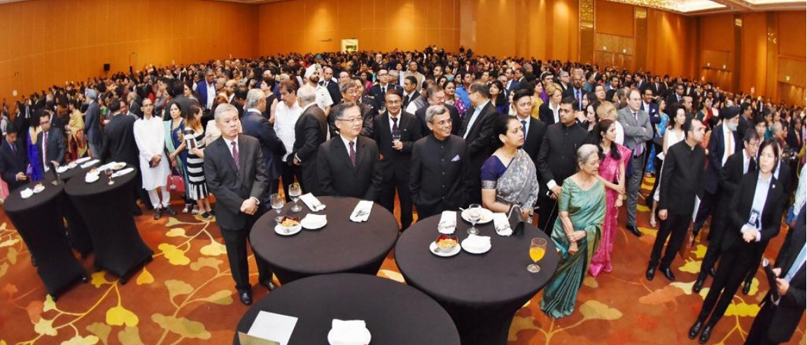 Republic Day Reception at Marina Bay Sands, Singapore.